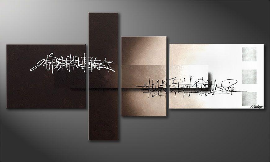Das Acrylbild Between Night & Day 160x80x2cm