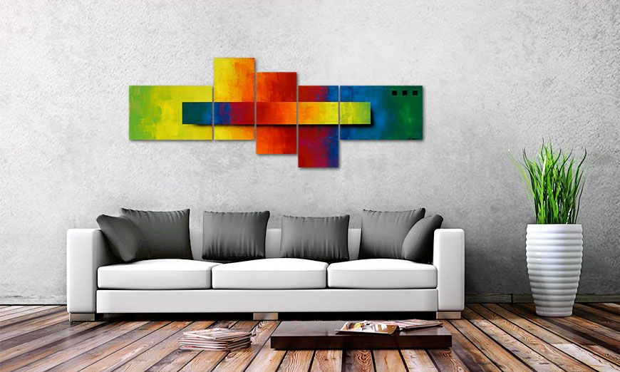 Das Bild Piece of a Rainbow 130x75cm