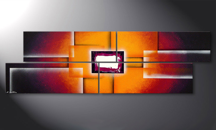 Das Bild Sunrise Construction 200x60x2cm