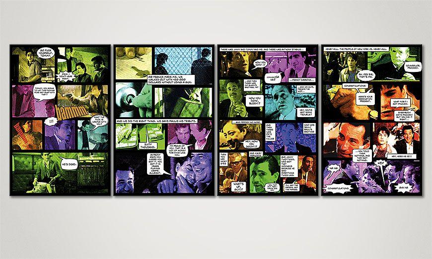 Das Comic Style Bild Good Fellas II 160x60x2cm