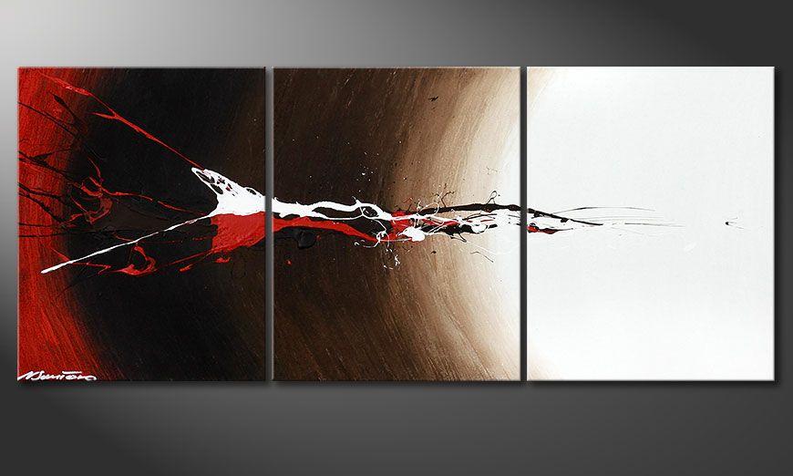 Das Keilrahmen-Bild Erupted Contrast 120x50x2cm