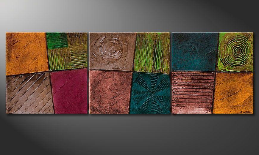 Das Keilrahmen-Bild Facets of Life 150x50x2cm