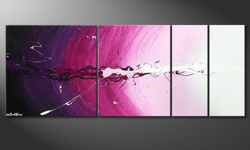 Das Keilrahmen-Wandbild Cosmic Splash 130x50x2cm