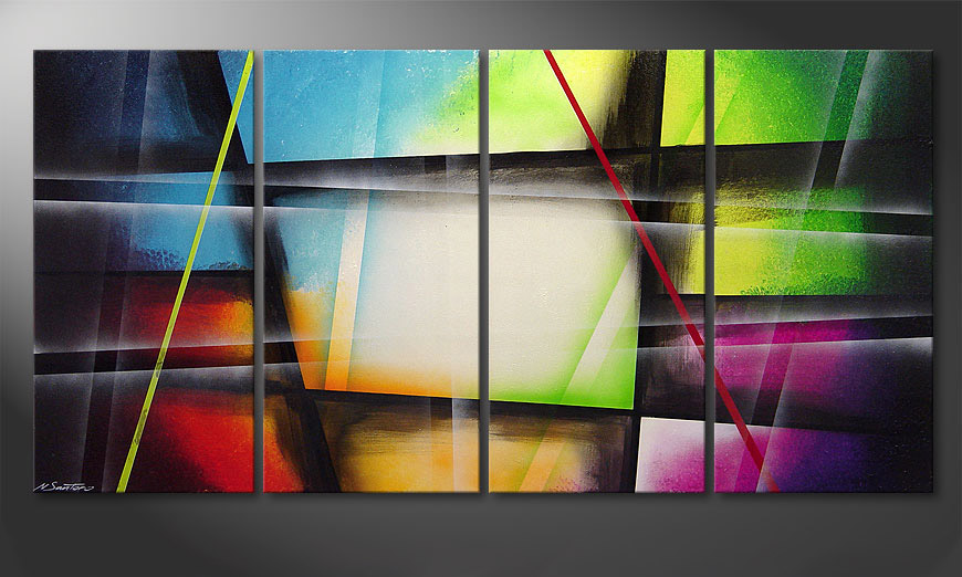 Das Leinwandbild Window to Rainbow 160x80x2cm