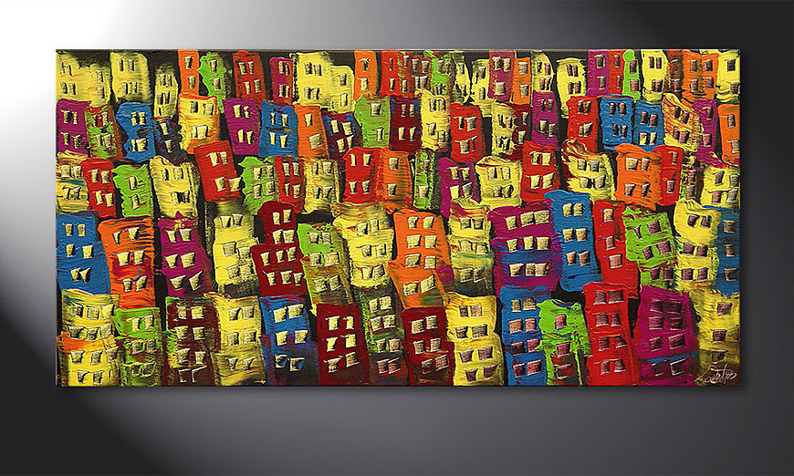 Das Wandbild Beauty of a City in 120x60x2cm