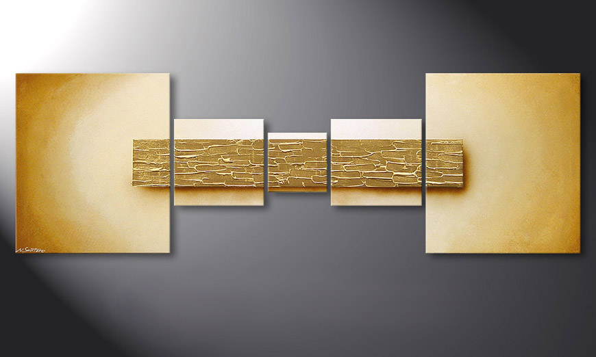 Das Wandbild Broken Gold in 180x60x2cm