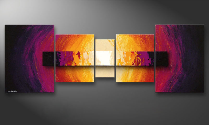 Das Wandbild Catched Afterglow 200x70x2cm