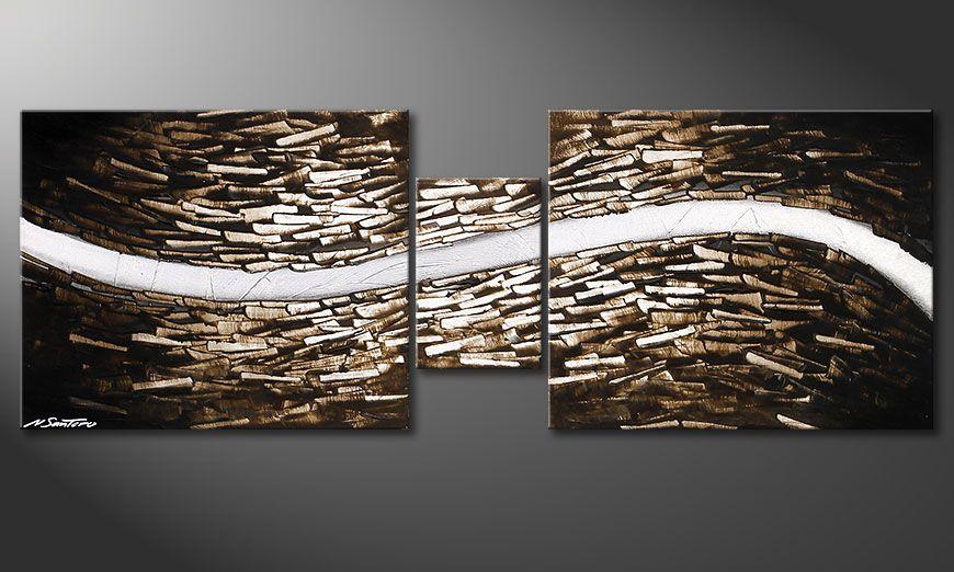 Das Wandbild Clear River 140x50x2cm