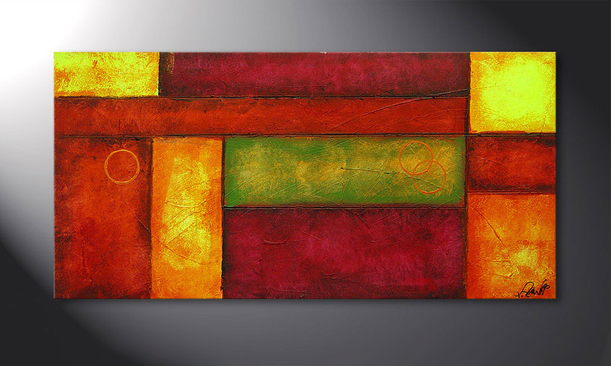 Das Wandbild Come Together 120x60x2cm