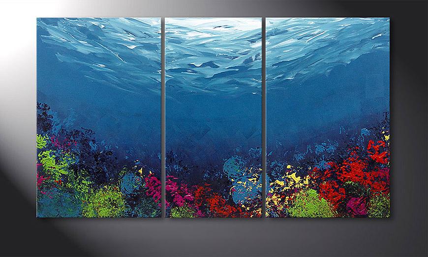 Das Wandbild Coral Garden 140x80x2cm