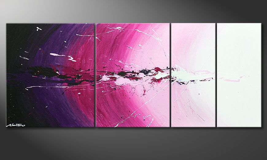 Das Wandbild Cosmic Splash in 170x70x2cm