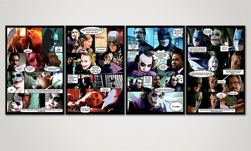 Das Wandbild Dark Knight in 160x60x2cm