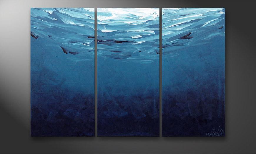 Das Wandbild Deep Blue 120x80x2cm