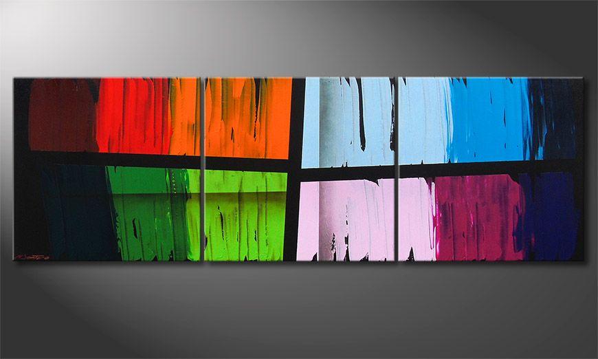 Das Wandbild Disparate Impact 210x70x2cm