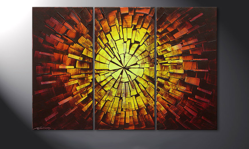 Das Wandbild Fiery Explosion 120x80x2cm