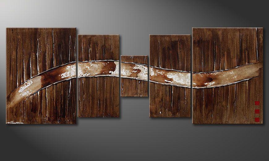 Das Wandbild Frozen Moments 180x70x2cm