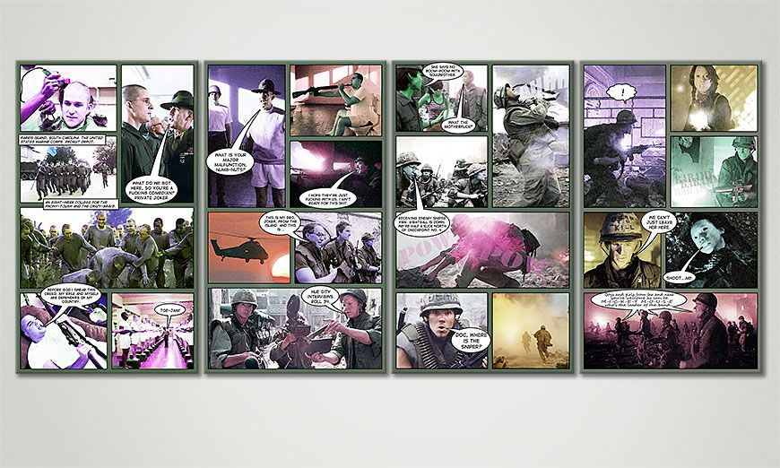 Das Wandbild Full Metal Jacket in 160x70x2cm