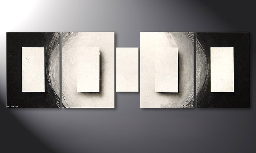 Das Wandbild Illuminated Cubes 220x70x2cm