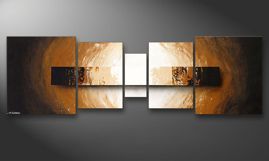 Das Wandbild Illuminated Earth 220x70x2cm