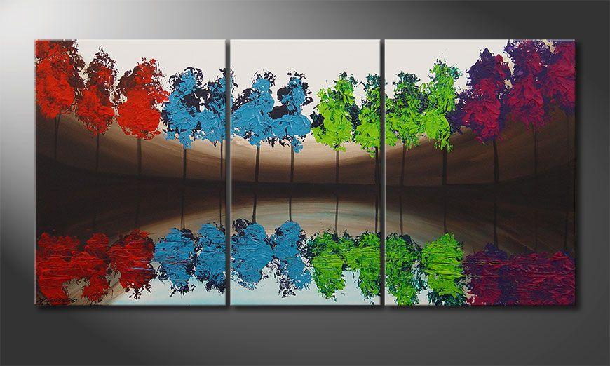 Das Wandbild MiracleTrees 140x70x2cm