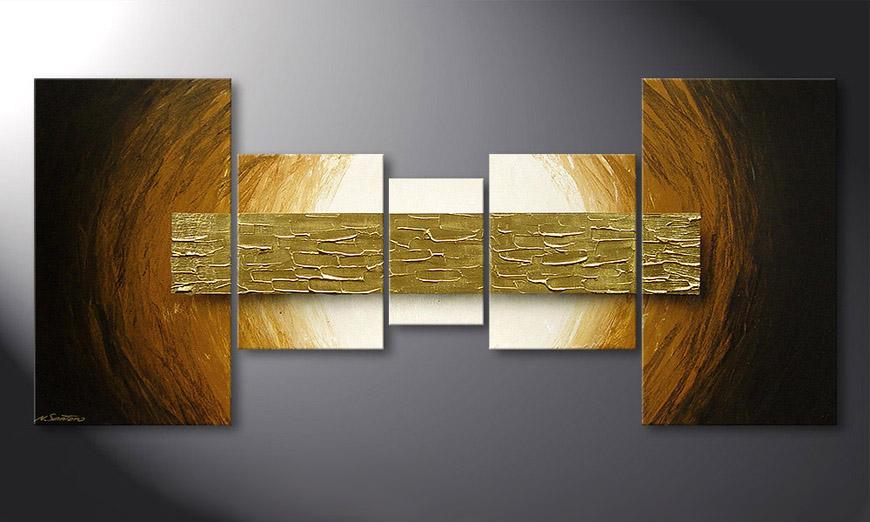 Das Wandbild Natural Gold in 160x70x2cm