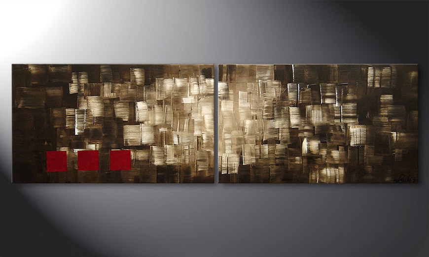 Das Wandbild Play of Light 200x60x2cm
