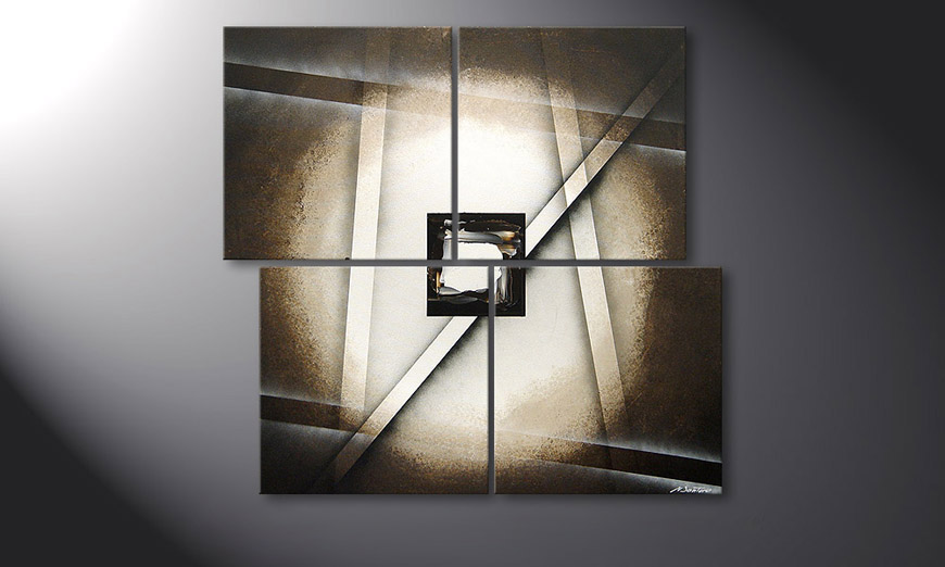 Das Wandbild Playful Shadows in 110x100x2cm