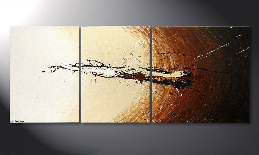 Das Wandbild Power of Earth 170x70x2cm