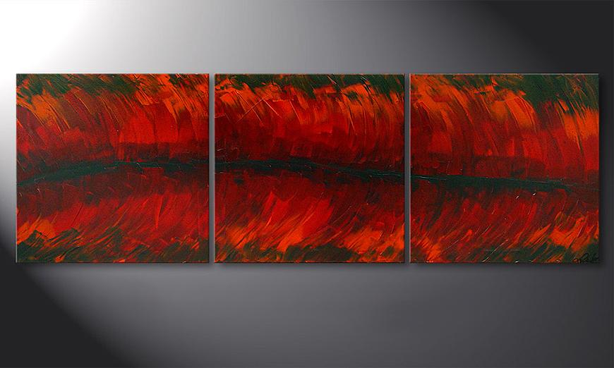 Das Wandbild Riven Red 180x60x2cm