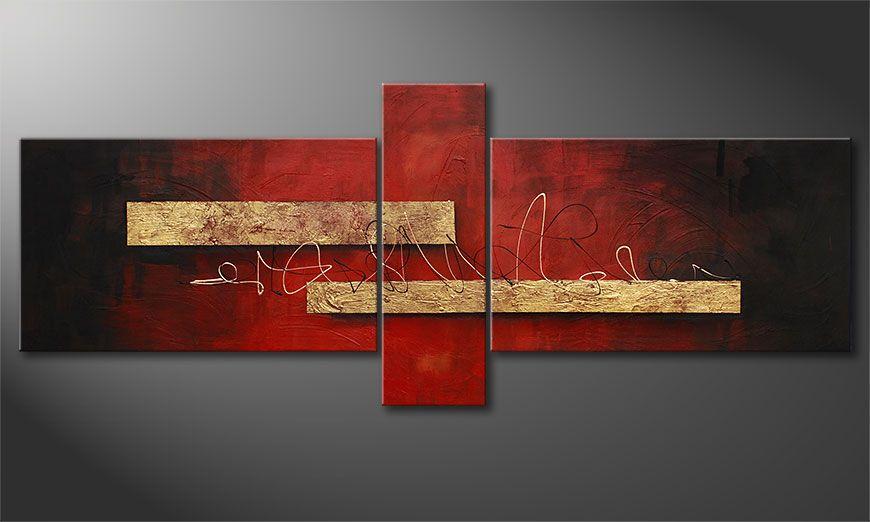 Das Wandbild Sense of Delight 230x90x2cm