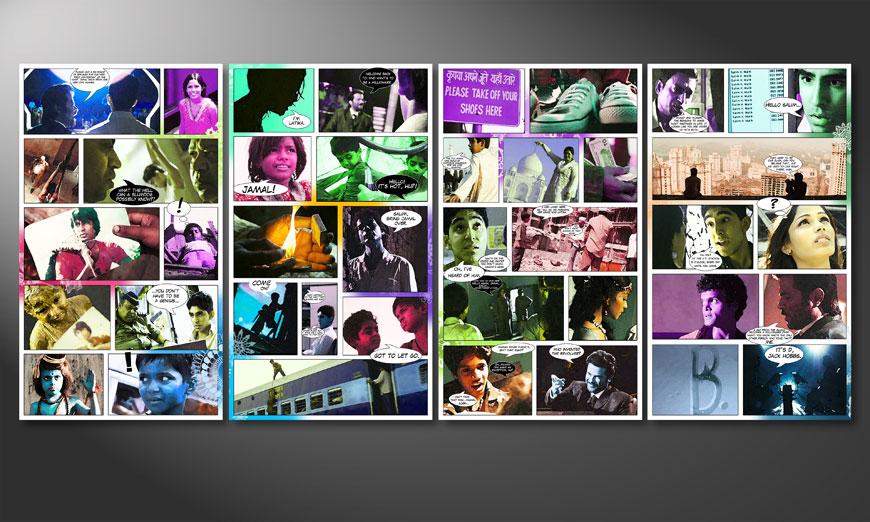 Das Wandbild Slumdog Millionaire 160x70x2cm