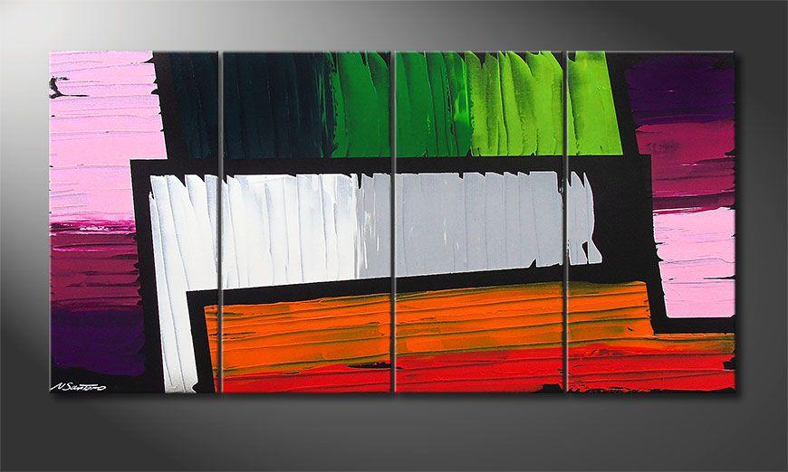 Das Wandbild Structure of Colors 160x80x2cm