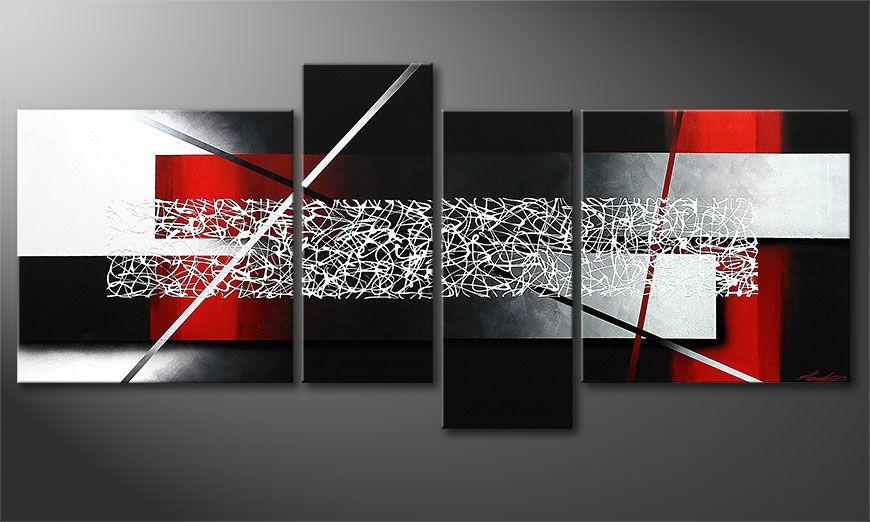 Das Wandbild Sudden Inspiration 180x80x2cm