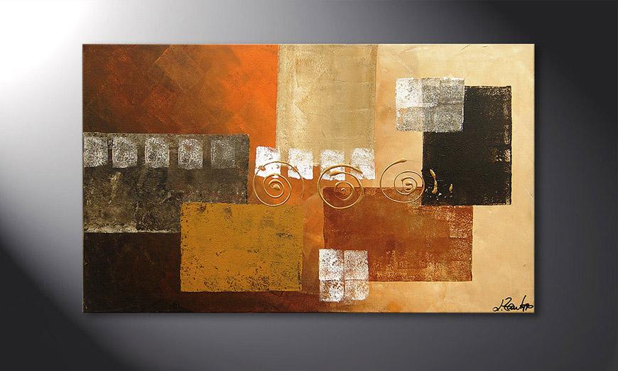 Das Wandbild Sunny Swirl 100x60x2cm