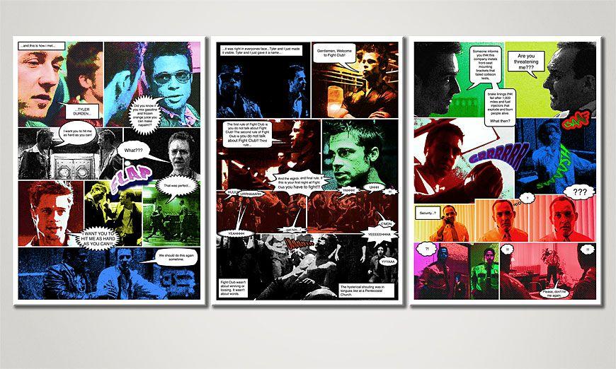 Das Wohnzimmer Bild Fight Club 150x70x2cm