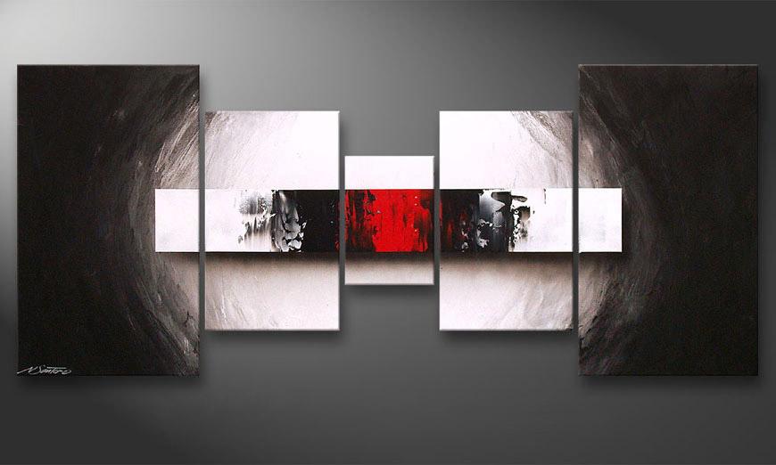 Das Wohnzimmerbild End of Contrast 160x70x2cm