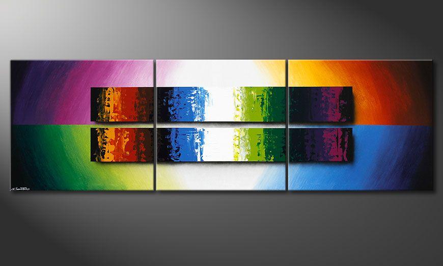 Das XXL-Bild Expression of Colours 260x80x2cm