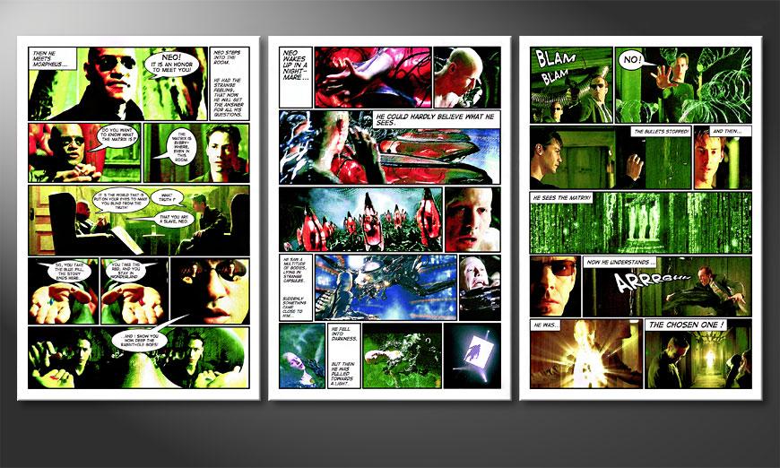 Das große Wandbild Matrix in 180x90x2cm