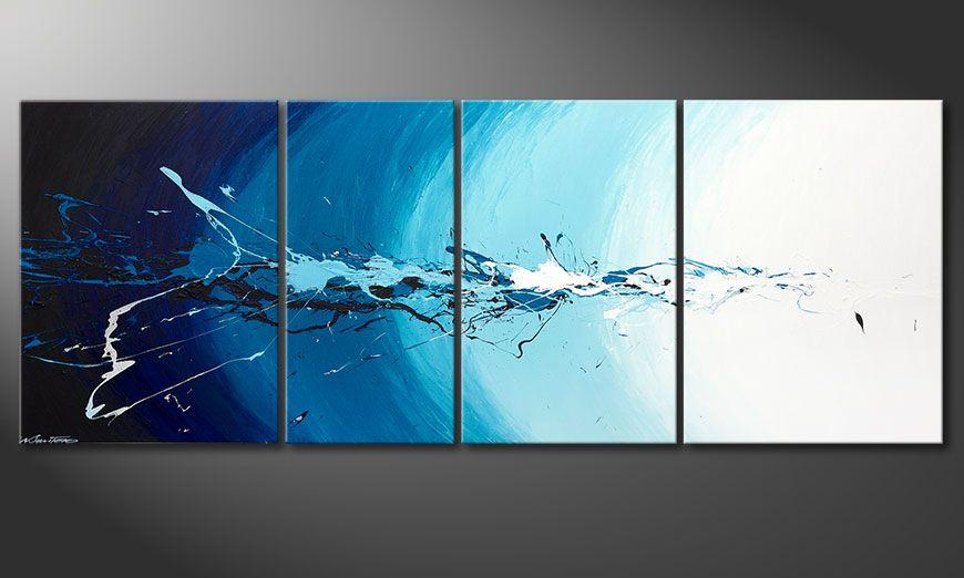 Das mehrteilige Wandbild Water Splash 210x80x2cm