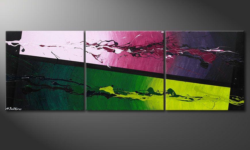 Das moderne Acrylbild Tropic Splash 150x50x2cm