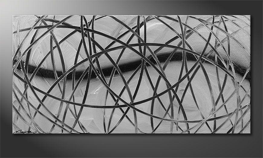 Das moderne Bild Broken White 100x50x2cm
