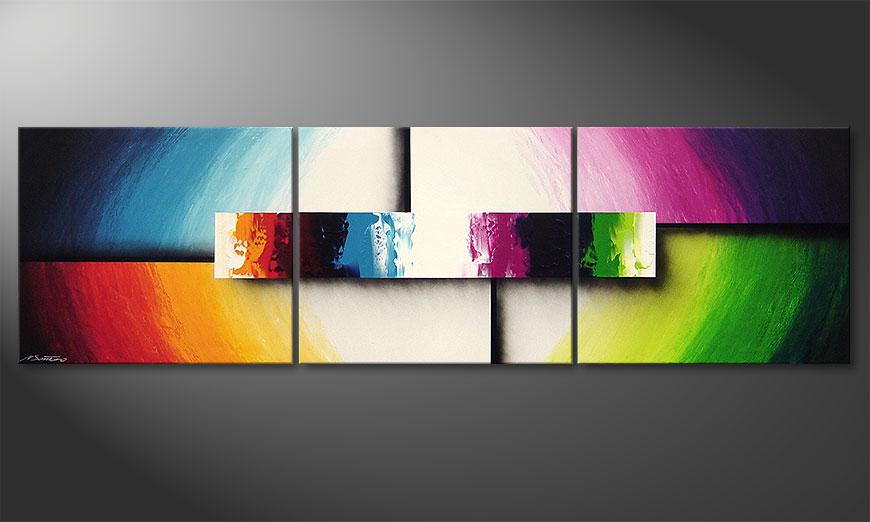 Das moderne Bild Colorful Life II 210x60x2cm