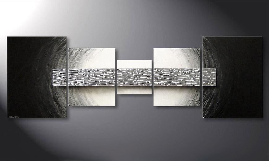 Das moderne Bild Silver Bar 210x70x2cm