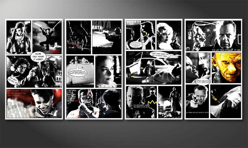 Das moderne Leinwandbild Sin City 160x70x2cm
