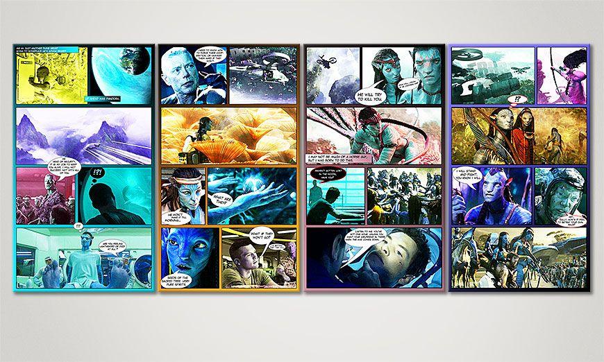 Das moderne Wandbild Avatar 160x70x2cm