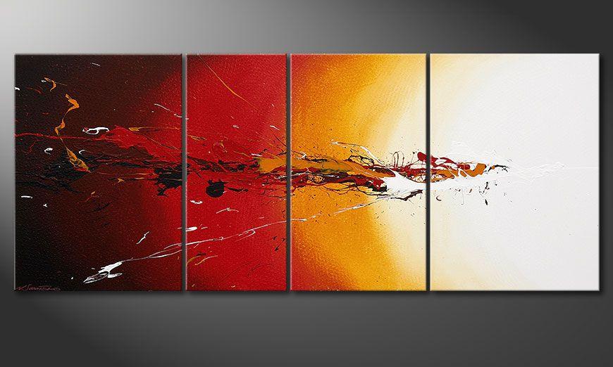 Das moderne Wandbild Fiery Splash 170x70x2cm