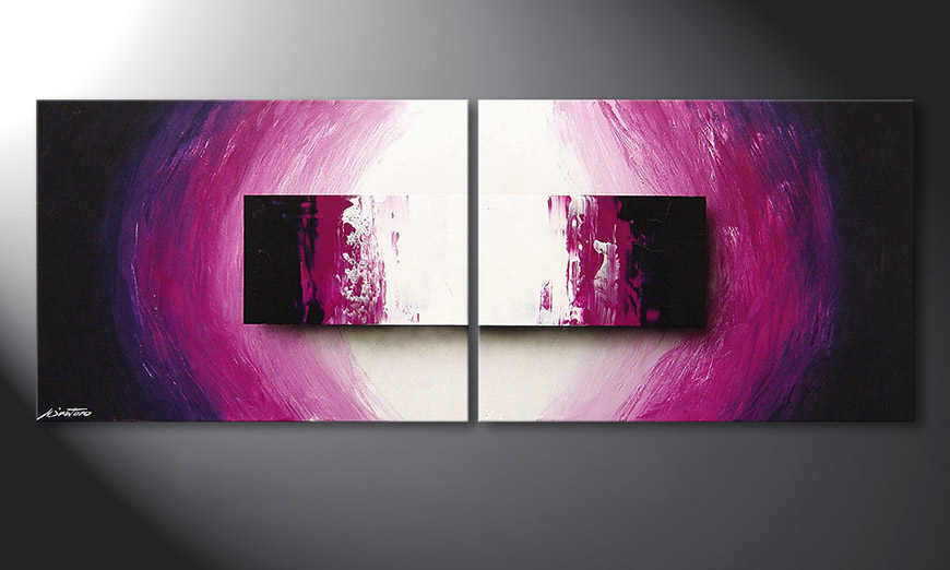 Das moderne Wandbild Purple Rain 160x60x2cm