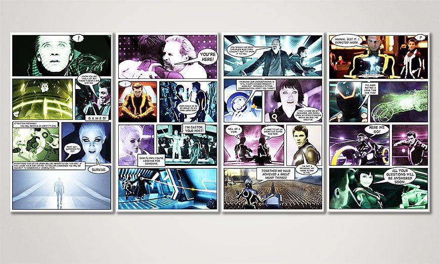 Das moderne Wandbild Tron: Legacy 160x70x2cm