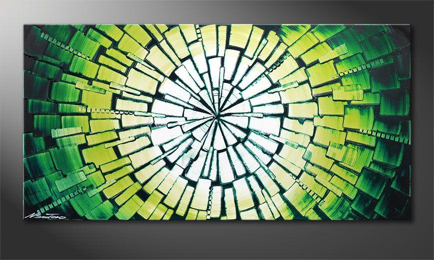 Das schöne Wandbild Center of Jungle 100x50x2cm