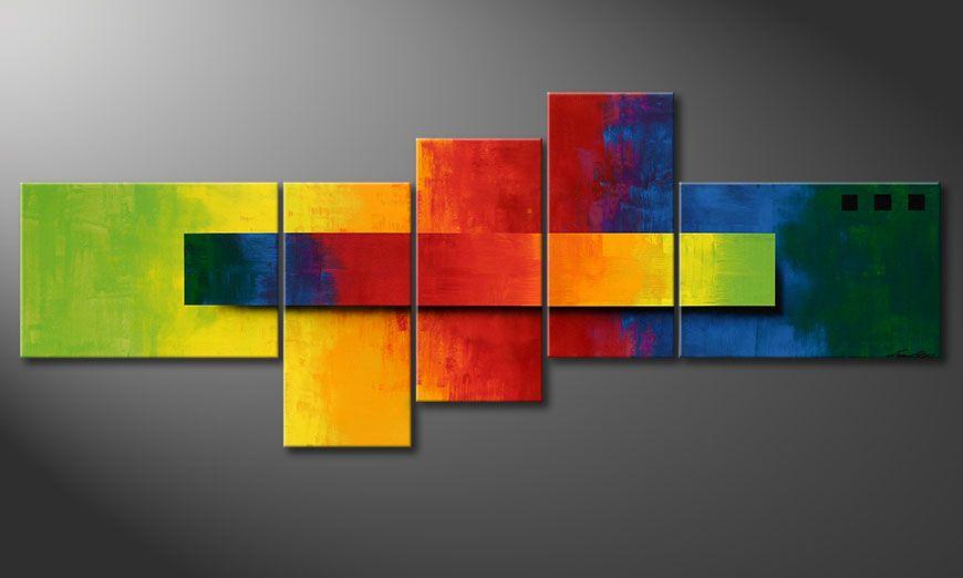 Frische Deko: Facets of a Rainbow 160x60x2cm